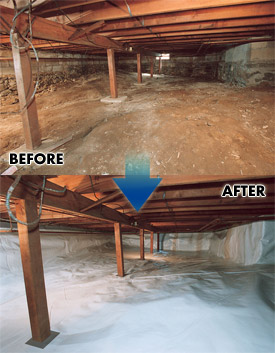 Crawl space moisture barrier wilmington salisbury md for Crawl space conversion cost